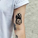 Fahrenheit 451 tattoo by @kazisvet_