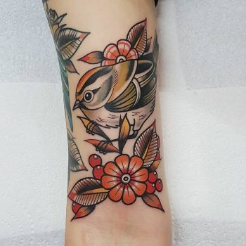 Firecrest tattoo by @rabtattoo