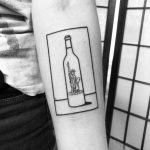 Freedom in a wine bottle by @alexbergertattoo