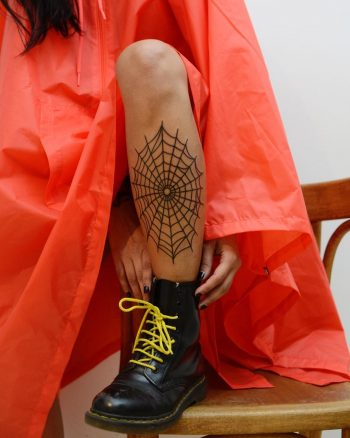 Freehand spider web by @tototatuer