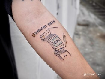 Game over tattoo by @tattooist_kano