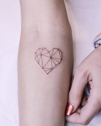 Geometric heart by @firstjing