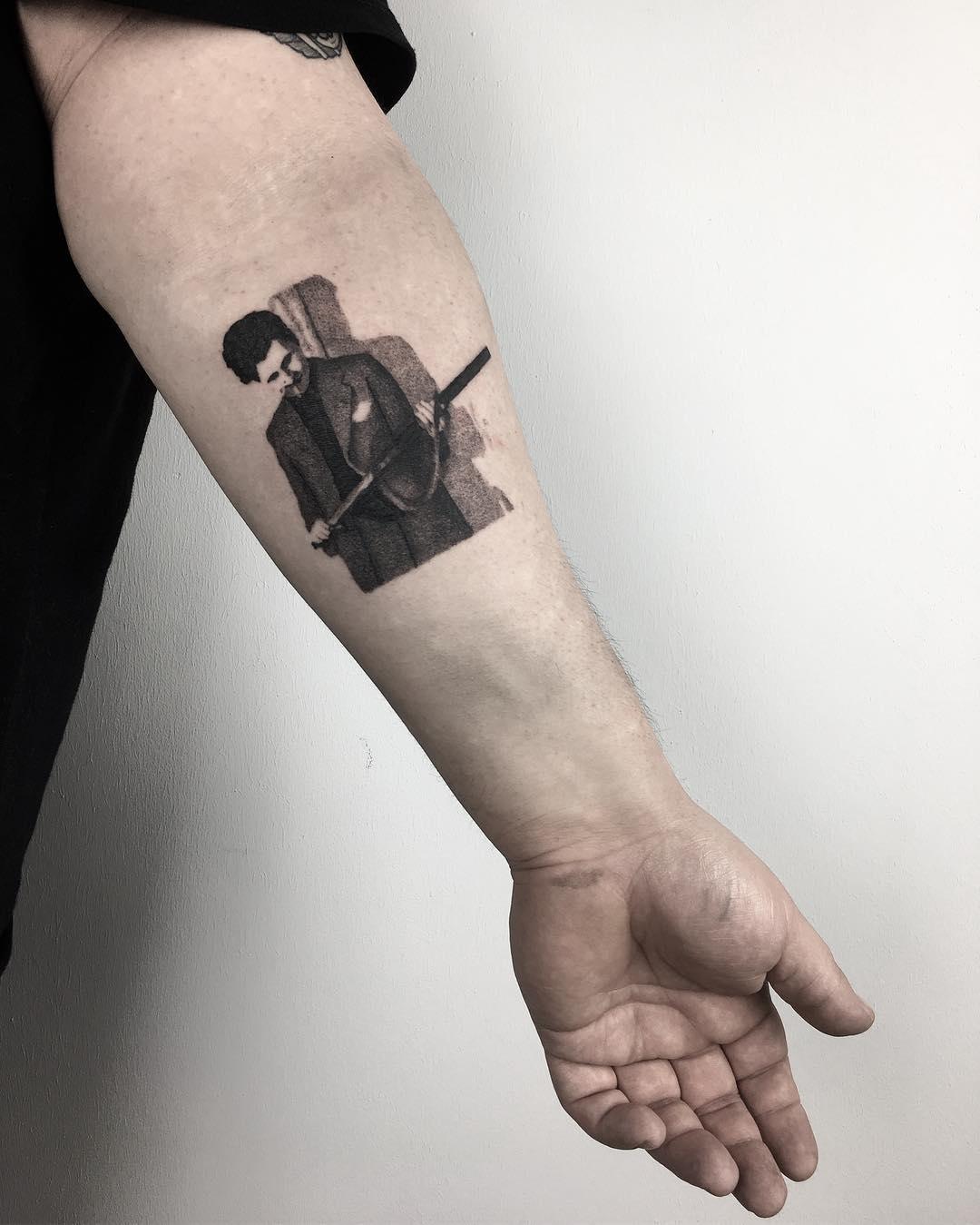 George Orwell tattoo by @sztuka_wojny