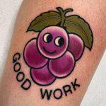 Grape encouragement by @lindseebeetattoo