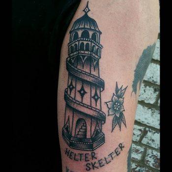 Helter Skelter tattoo by @rabtattoo