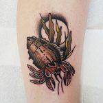 Hermit crab by @rabtattoo