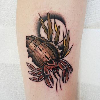 Hermit crab by @rabtattoo