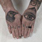 Inked hands by @justinoliviertattoo