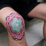 Knee mandala by @pitta_kkm