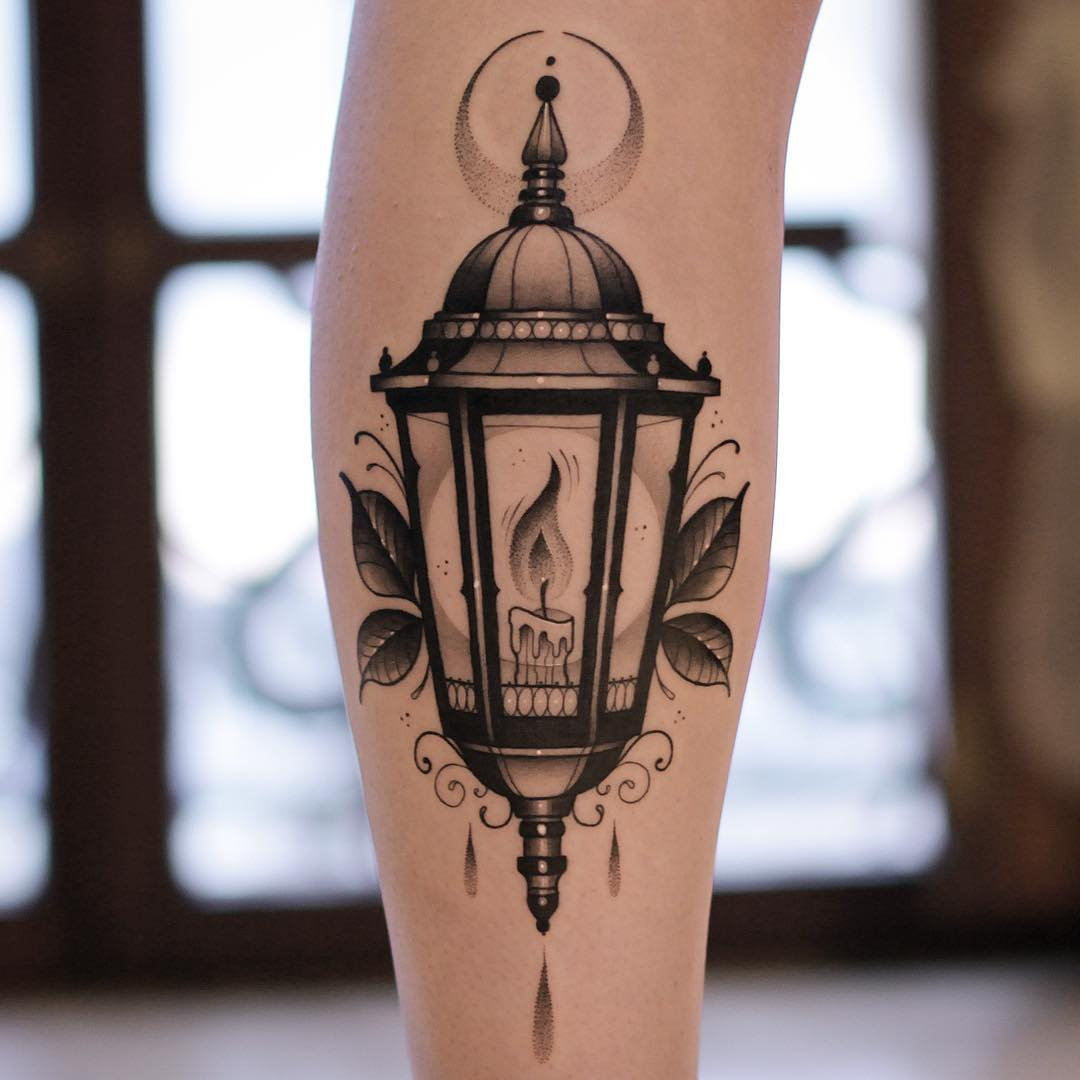 Lantern by @xavtattoo