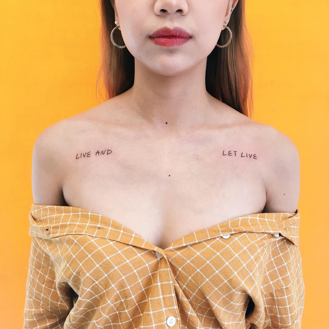 Live and let live tattoo by @takemymuse