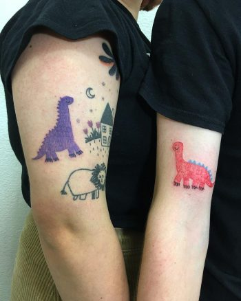 Matching dinosaurs by @alexey_feism