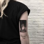 Monastery hallway tattoo by @sztuka_wojny