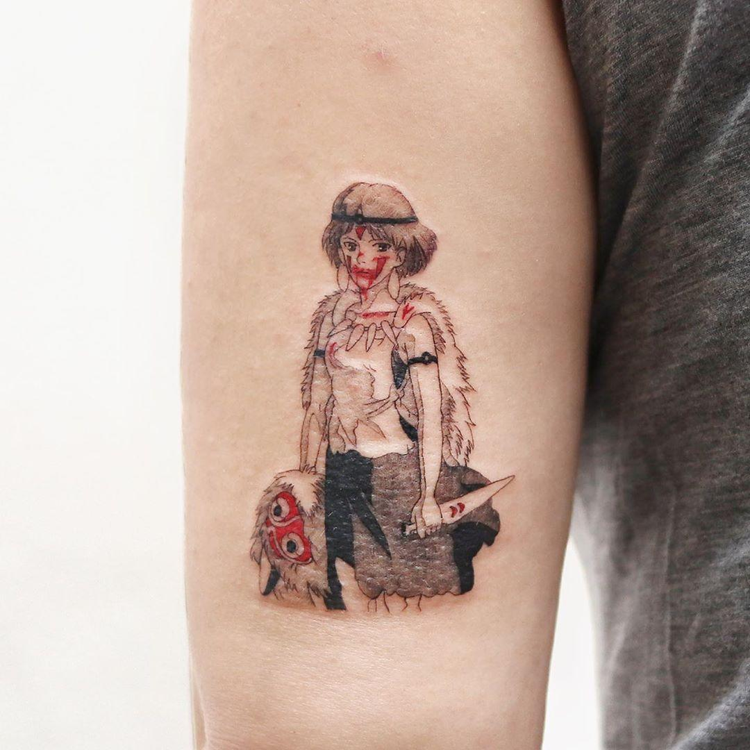 Mononoke Hime tattoo by @tattooist_sigak
