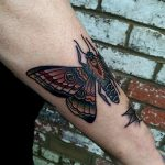Moth by @rabtattoo