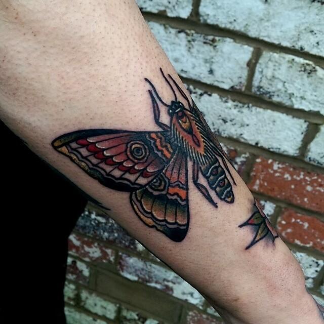 Moth by @rabtattoo