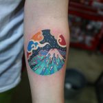 Mount Fuji tattoo by @pitta_kkm