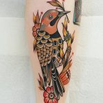 Northern Flicker tattoo by @rabtattoo