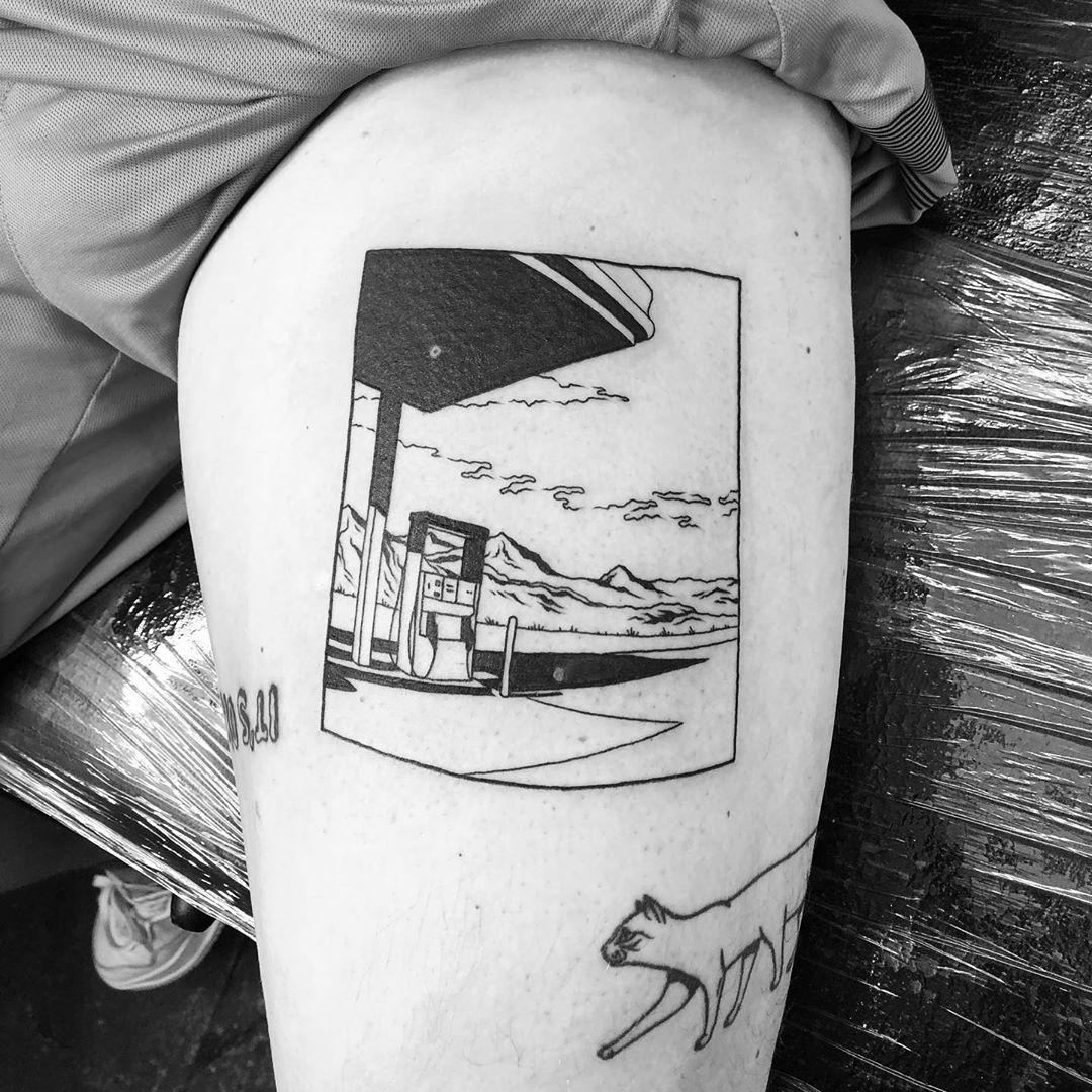 Nowhere land by @alexbergertattoo