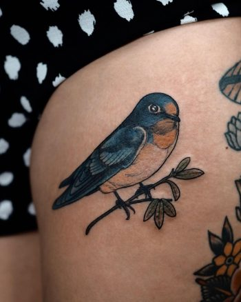 Pacific swallow tattoo by @sophiabaughan
