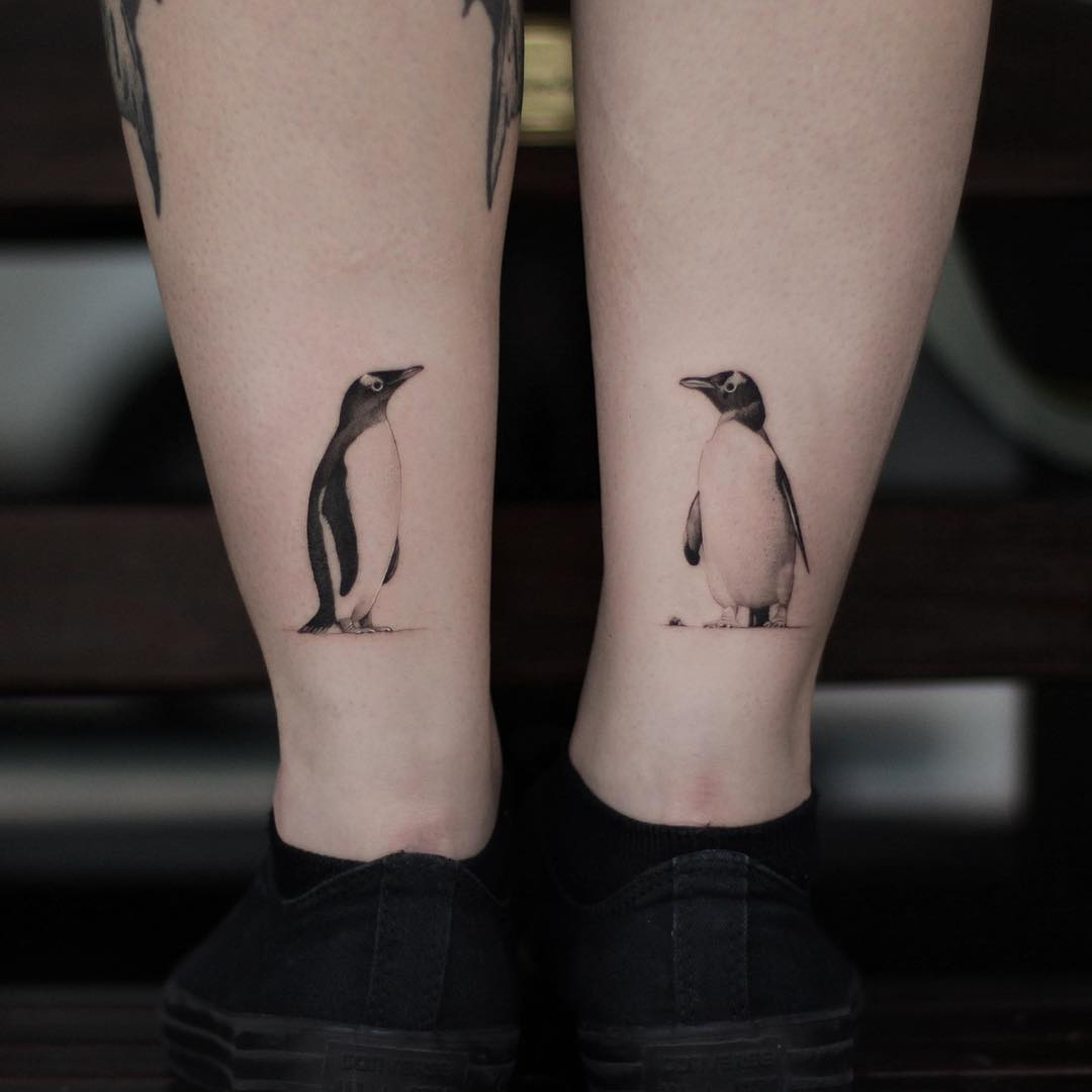 Penguins by @xavtattoo
