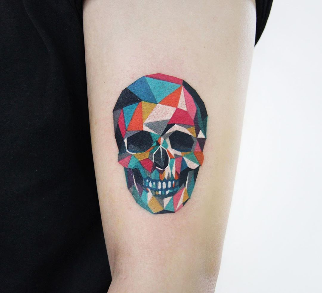 Polygonal skull by @polyc_sj