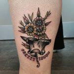 Pretty Tough tattoo by @rabtattoo