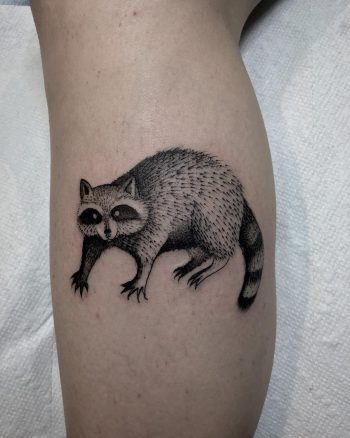 Raccoon by @justinoliviertattoo