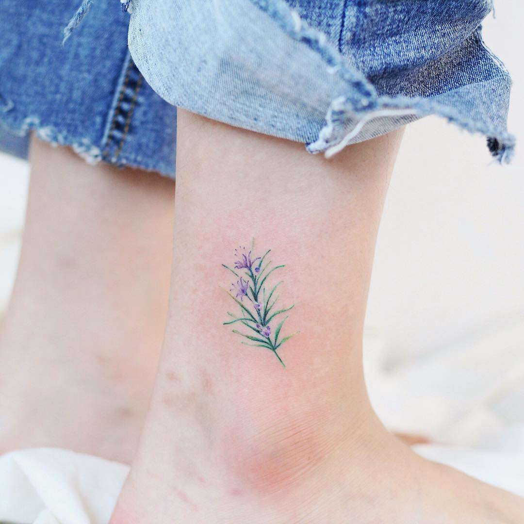 Rosemary flower by @vane.tattoo_