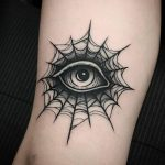 Spider web eye by @thomasetattoos