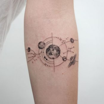 Universe by @tattooist_sigak