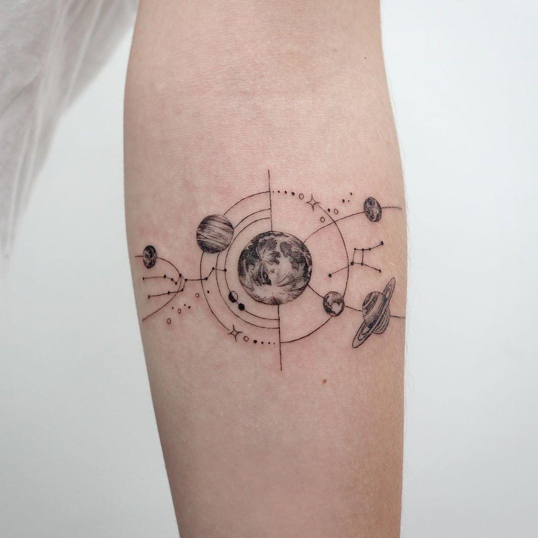Universe by @tattooist_sigak