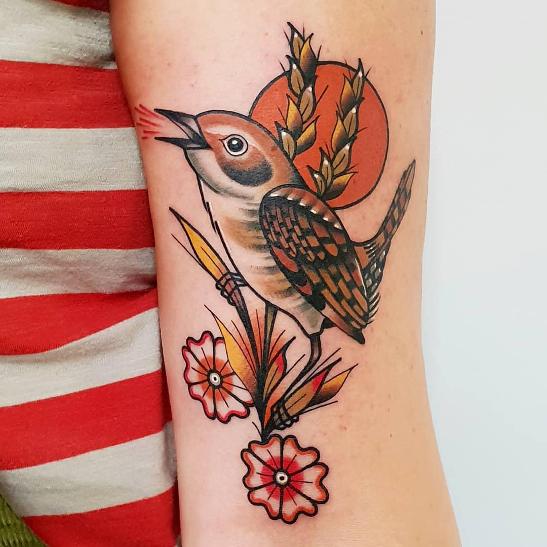 Wren tattoo by @rabtattoo