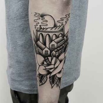 Yorkshire Rose by @rabtattoo