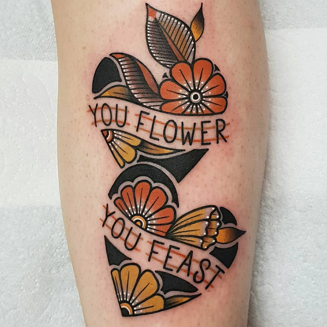You flower you feast by @rabtattoo