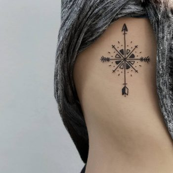 Arrow compass by @isaarttattoo