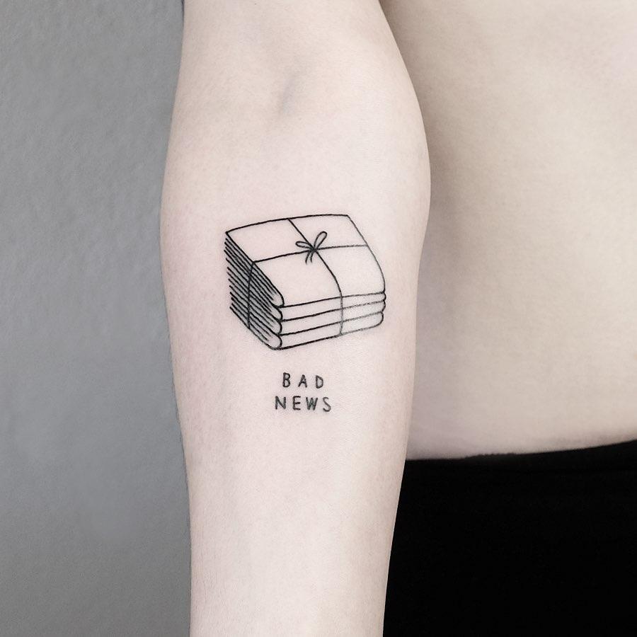 Bad news tattoo by @mateutsa