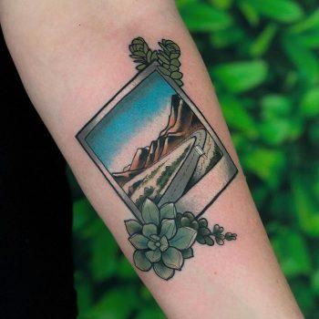 Big Sur California tattoo by @lindseebeetattoo
