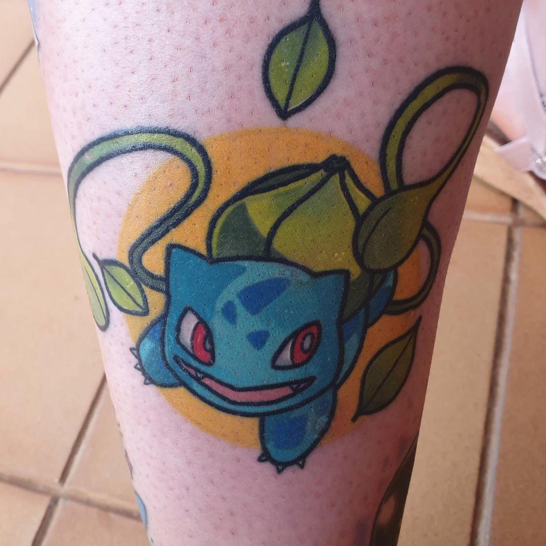 Bulbasaur tattoo by @stickypop