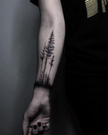 Dark forest by @inksil