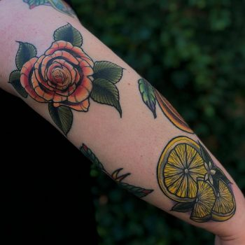 Elbow piece by @lindseebeetattoo