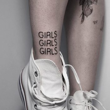 GIRLS GIRLS GIRLS tattoo by @mateutsa