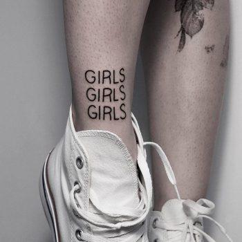 GIRLS GIRLS GIRLS tattoo by @mateutsa