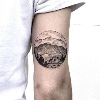 Lovely landscape by @isaarttattoo