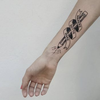 Makes gotta make tattoo by @isaarttattoo