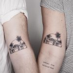 Matching favorite place tattoos by @sollefe