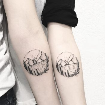 Matching landscape tats by @sollefe