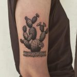 Prickly pear tattoo by @justinoliviertattoo