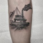 Steamboat tattoo by @justinoliviertattoo