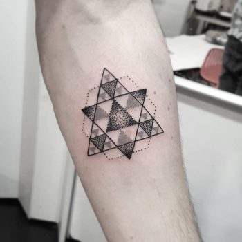 Triangle by @isaarttattoo